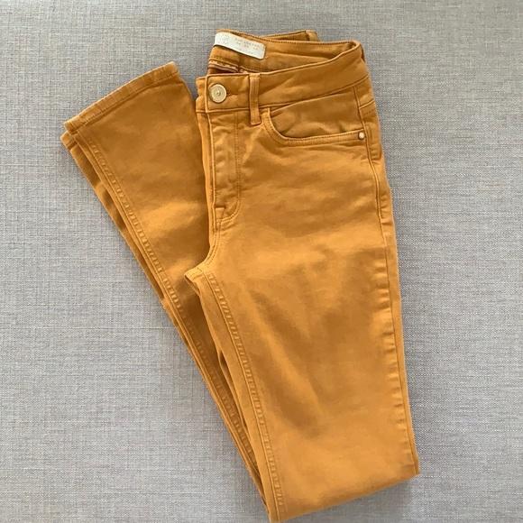ZARA mustard yellow jeans